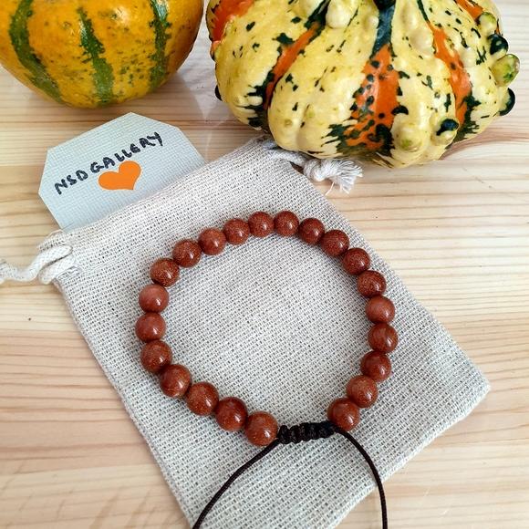 Custom adjustable gemstone bracelet - GOLDSTONE